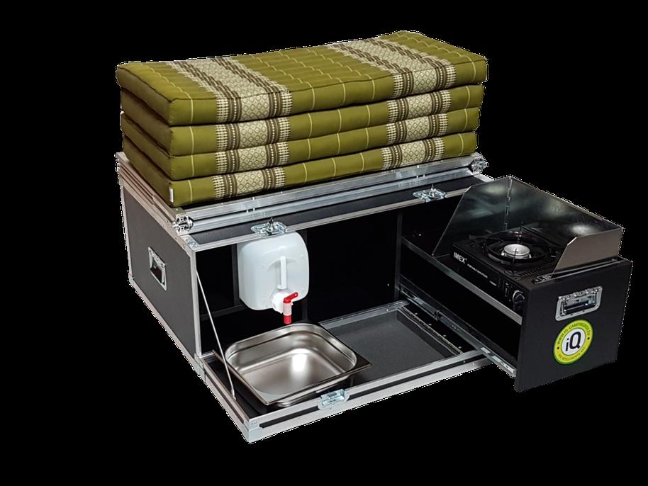 IQ Campingbox: Robuste Stauraumbox mit Bio-Matratze
