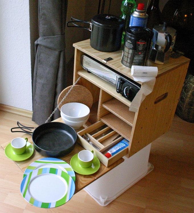 Flexcamper Küchenbox: Kaufen oder selber bauen. Bild: Flexcamper.de