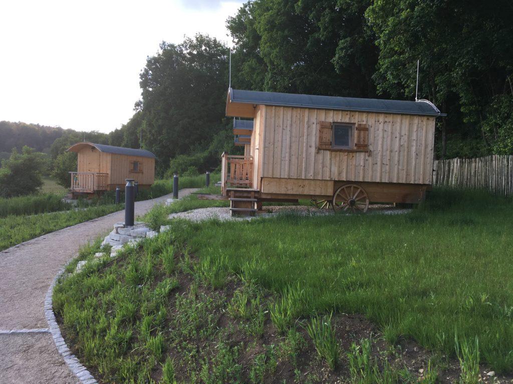 Schäferwagen am Zelt- und Wohnmobilstellplatz Hammermühle