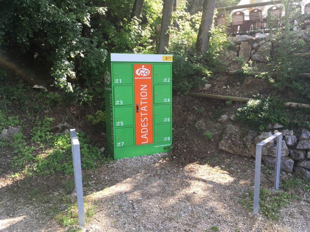 eBike-Ladestelle am Zelt- und Wohnmobilstellplatz Hammermühle